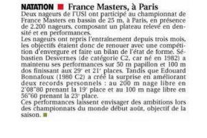 Maîtres, Championnat de France à Paris, Avril 2014